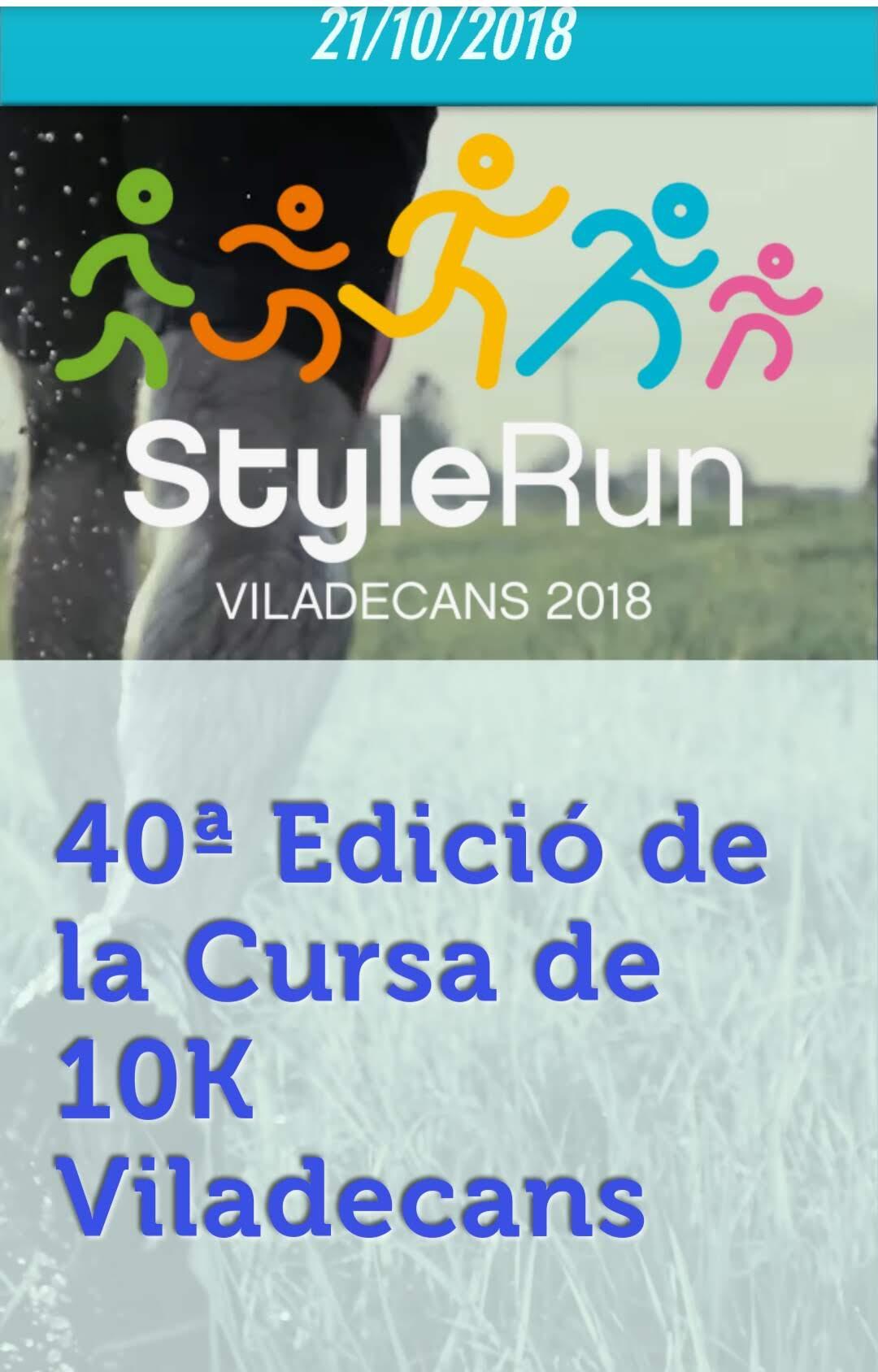 40ª edición de la Cursa Atlètica de Viladecans, 1ª edición StyleRun