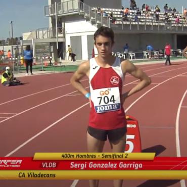 Atletas del CAV en el Campeonato de España
